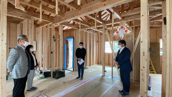 山口県岩国市で新築一戸建ての上棟式をおこないました。