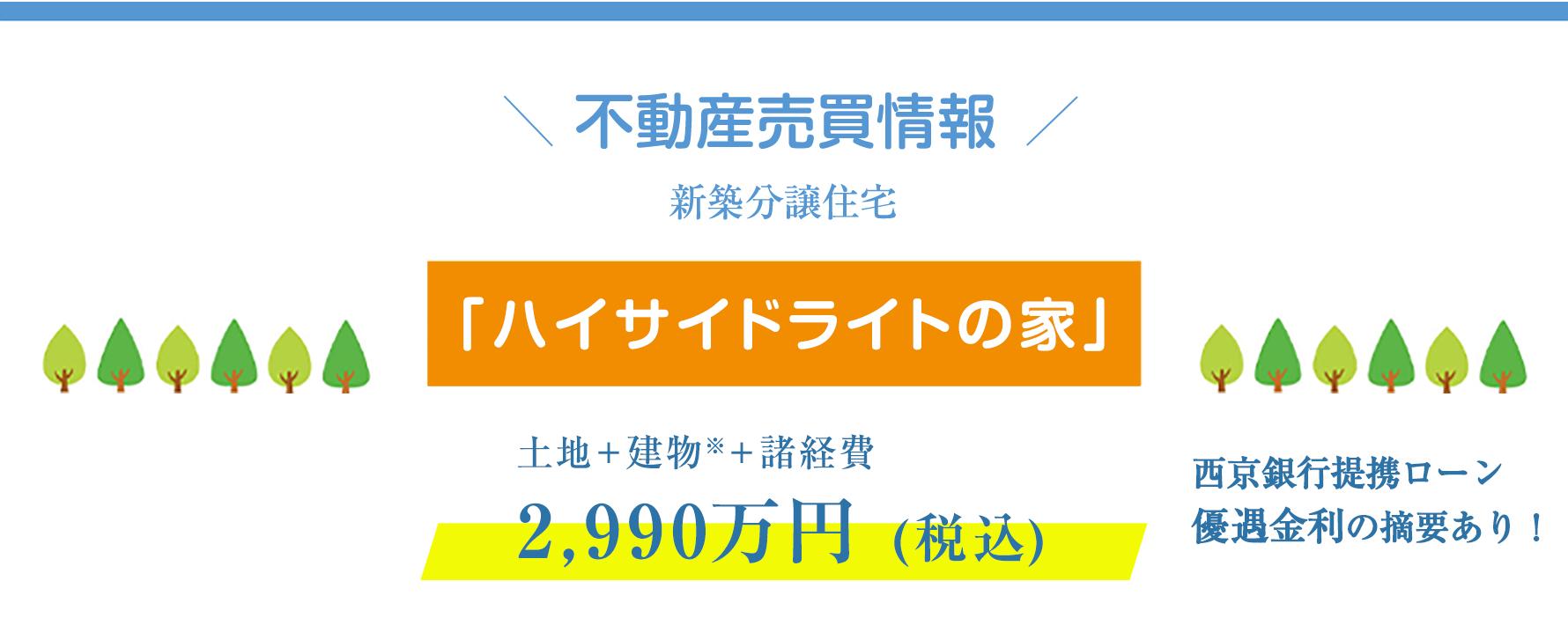 モデルハウス「ハイサイドライトの家」特別価格2,990万円(税込)!