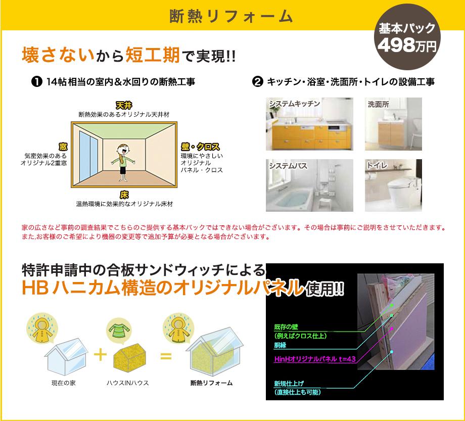 断熱リフォーム 基本パック498万円