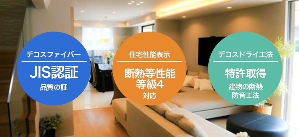 デコスファイバー/住宅性能表示/デコスドライ工法