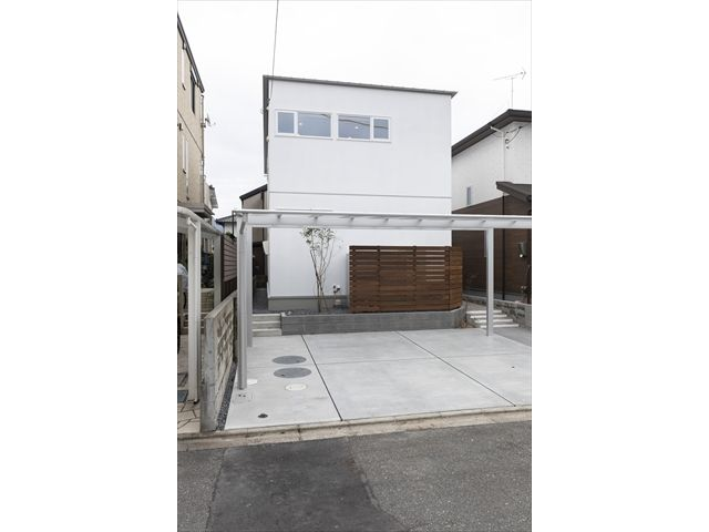 山口県 岩国市 新築注文住宅『アウトドアリビングのあるライトコートハウス』