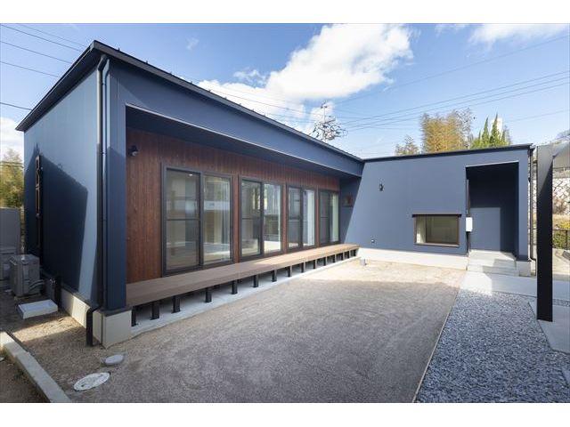 山口県 岩国市 新築注文住宅『陽光に包まれるLDKの平屋の家』