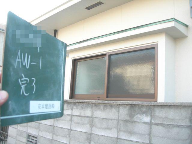 建具復旧工事 台所出窓