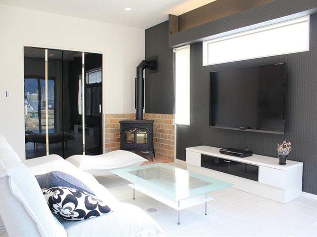 山口県 岩国市 新築注文住宅『ガラス階段と薪ストーブのある家』