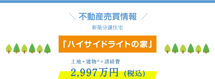 モデルハウス「ハイサイドライトの家」特別価格2,997万円(税込)!